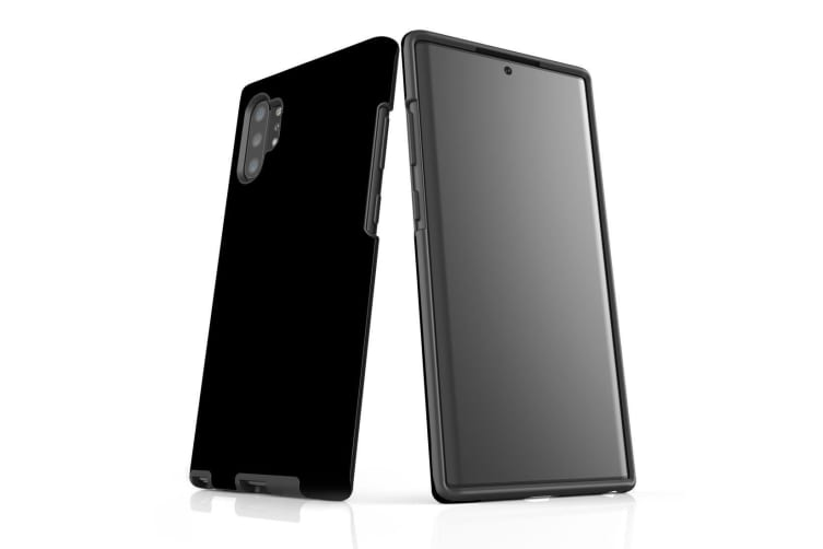 For Samsung Galaxy Note 10+ Plus Armor Case  Shockproof Back Cover in Black