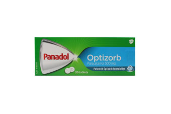 Panadol Optizorb 20 Pack Tablets - 500mg Paracetamol