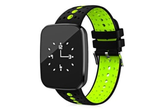 "Bluetooth V4.0 Smart Watch 0.96"" Oled Heart Rate Blood Pressure Ip67 Green"