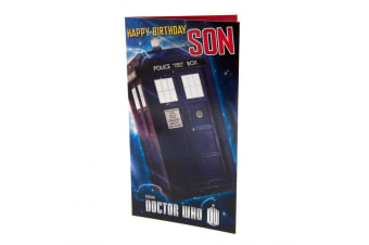 Doctor Who Son Birthday Card (Blue) (One Size)
