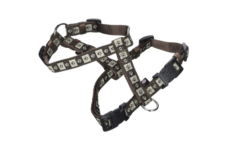 Trixie Modern Art H-Harness For Dogs (Mocca/Brown) (L-XL)