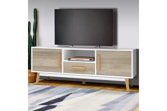 Artiss Wooden Entertainment Unit - White and Wood