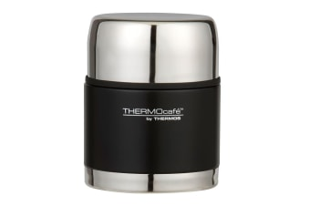 Thermos Cafe 500ml Stainless Steel Vacuum Insulated Food Jar Container Matt BLK