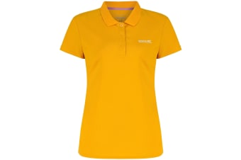 Regatta Great Outdoors Womens/Ladies Maverik III Short Sleeve Polo Shirt (Gold Heat)