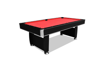 Starter Series 7FT MDF Pool Billiard Snooker Game Table with Free Billiard Accessories Pack, Red Felt