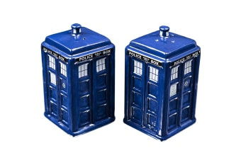 Doctor Who Tardis Salt & Pepper Shakers | BBC time lord dr kitchen shaker