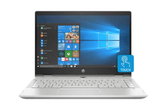 "HP Pavilion x360 14"" Convertible 2-in-1 Windows 10 Touch Screen Laptop (i5-8265U, 8GB, 256GB, Silver)"