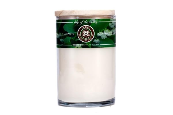 Terra Essential Scents Hand-Poured Soy Candle - Lily Of The Valley (12oz)