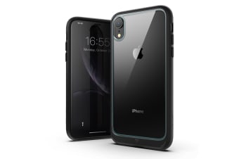 MAXSHIELD Heavy Duty Shockproof Slim Cover for iPhone XR-Black