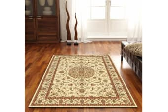 Medallion Rug Ivory with Ivory Border 150x80cm