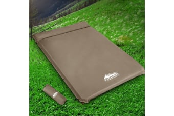 Self Inflating Mattress Camping Sleeping Mat Air Bed Pad Coffee