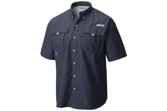 Columbia Mens PFG  Bahama II Shorts Sleeve Shirt - Riptide