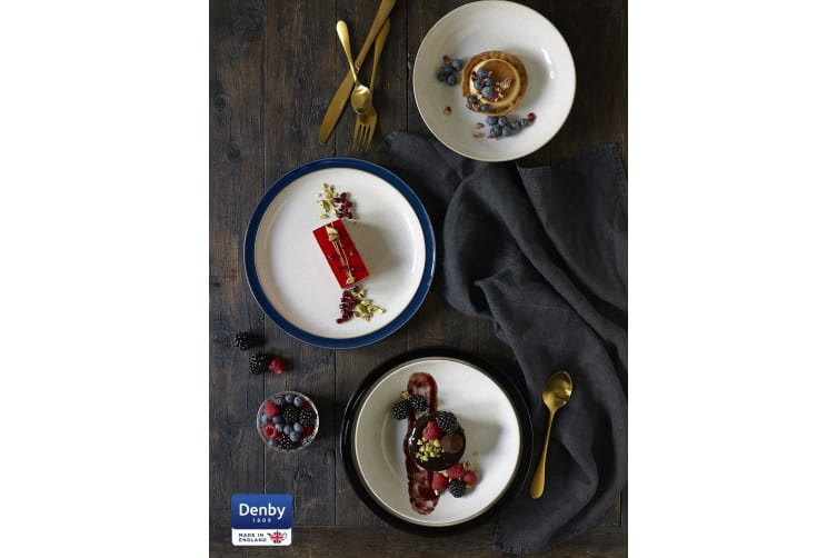Denby Jet Black Bread and Butter Plate