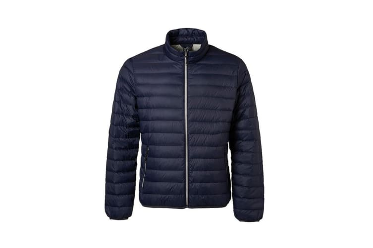 James and Nicholson Mens Light Down Jacket (Navy/Silver) (S)