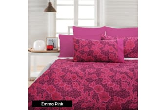 Emma Pink Quilt Cover Set by Accessorize