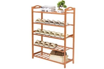 5 Tier Wooden Shoe Rack