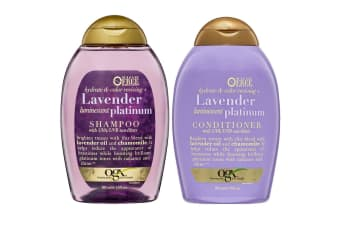 OGX 385mL Hydrate Colour/Lavender Shampoo & Conditioner Care UVA/UVB Blond Hair