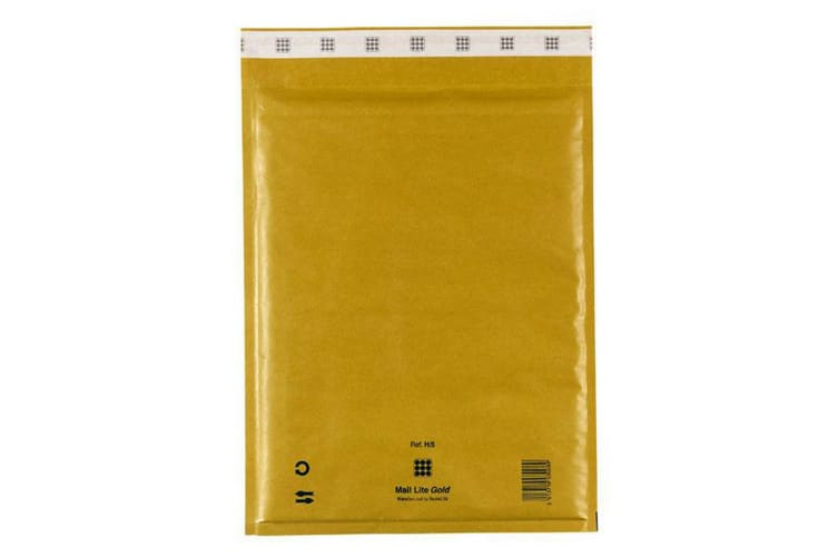 Mail Lite Sealed Air Gold Bubble Mail Bags (Pack Of 10) (Gold) (220x260mm - E / 2)