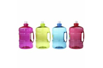 4x Water Bottle Large BPA Free Sport Gym Training Drink Cap Workout 2L