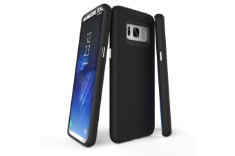 For Samsung Galaxy S8 Case  Black Armour Protective Durable Slim Phone Cover