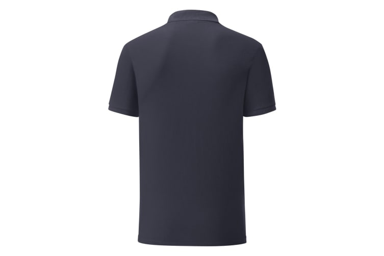 Fruit Of The Loom Mens Tailored Poly/Cotton Piqu Polo Shirt (Deep Navy) (XL)