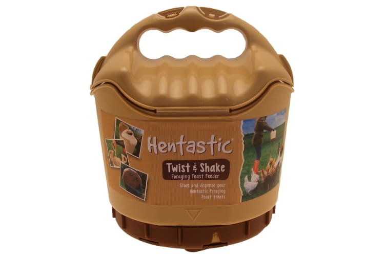 Hentastic Plastic Twist & Shake Foraging Chicken Pellet Feeder (Brown) (One Size)