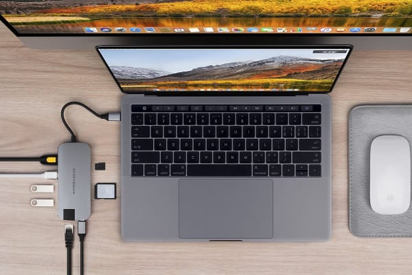 HyperDrive SLIM 8-in-1 Hub USB-C - Space Gray (90026465)
