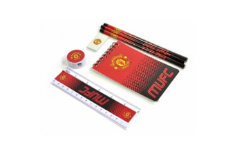 Manchester United Fade Starter 7 Piece Stationery Set (Red/Black/White)