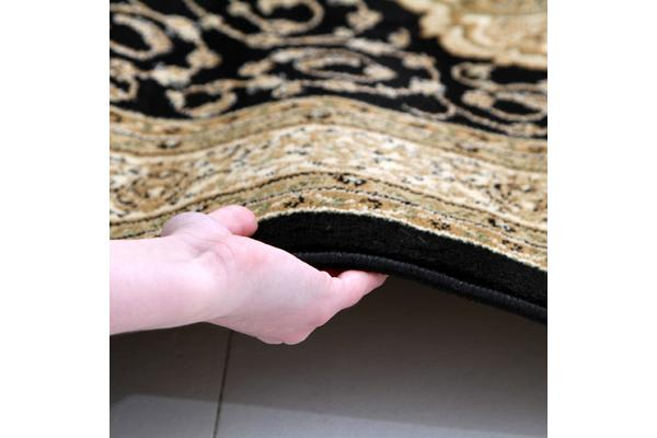 Medallion Classic Pattern Runner Black 300x80cm