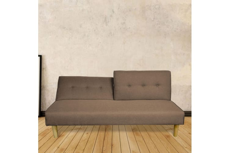 Enjoyable Scandi Adjustable Sofa Bed 3 Seater Brown Beutiful Home Inspiration Cosmmahrainfo