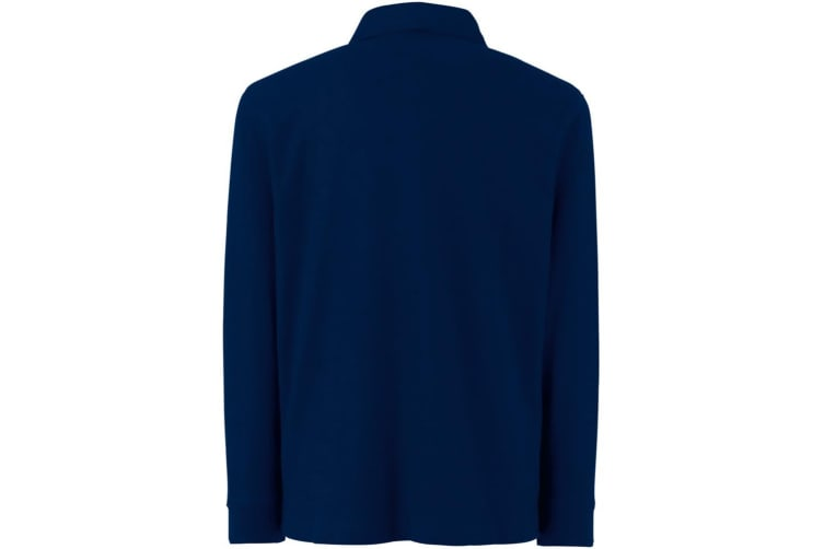 Fruit Of The Loom Childrens Long Sleeve 65/35 Pique Polo / Childrens Polo Shirts (Deep Navy) (3-4)