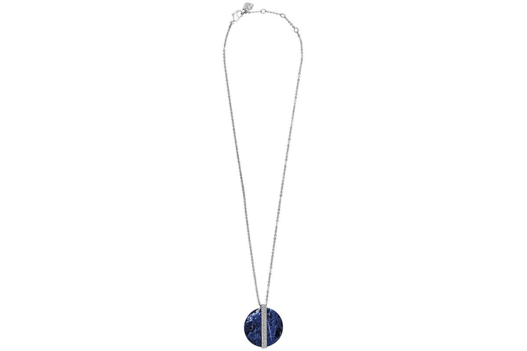 Swarovski Sodalite Disk Large Pendant Necklace
