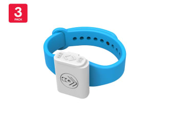 Pestill 3 Pack Electrosonic Mosquito Repeller Bracelets (Blue)