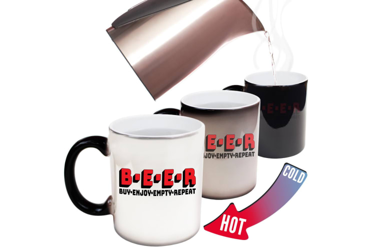 123T Funny Colour Changing Mugs - Beer Buy Empty