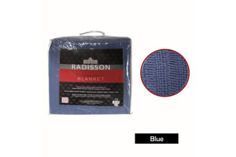 Radisson All Season Cotton Blanket Blue KING