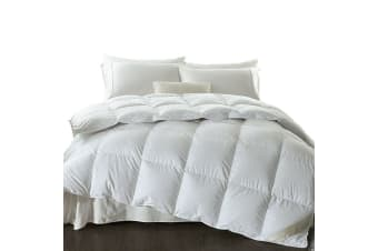DreamZ 700GSM All Season Goose Down Feather Filling Duvet in Super King Size