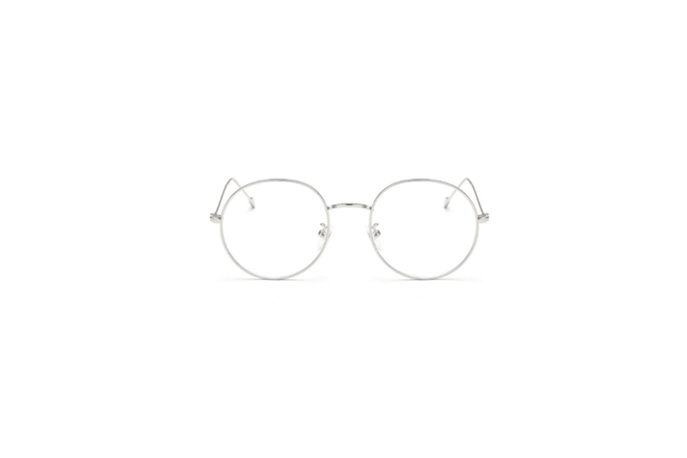 Classic Round Shape Metal Frame Nearsighted Myopia Glasses - 4 Silver 300 Degrees Myopia