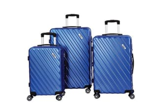 Todo Ultra Light Luggage Set 3Pcs Hard Shell Combination Locks - Blue