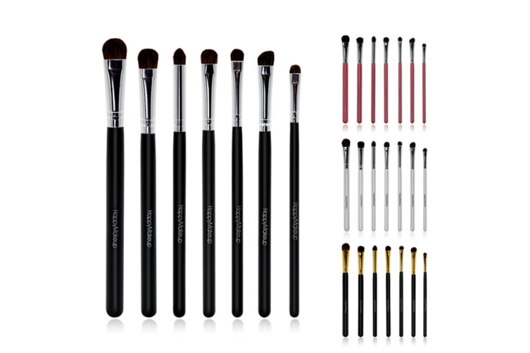 Eye Makeup Brushes Set Pure Brush Eye Shadow Brushes Set Makeup Brushes White Silver
