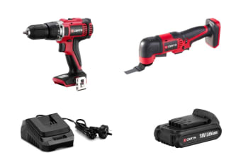 Certa PowerPlus 18V Drill and Multi-Tool Combo Kit