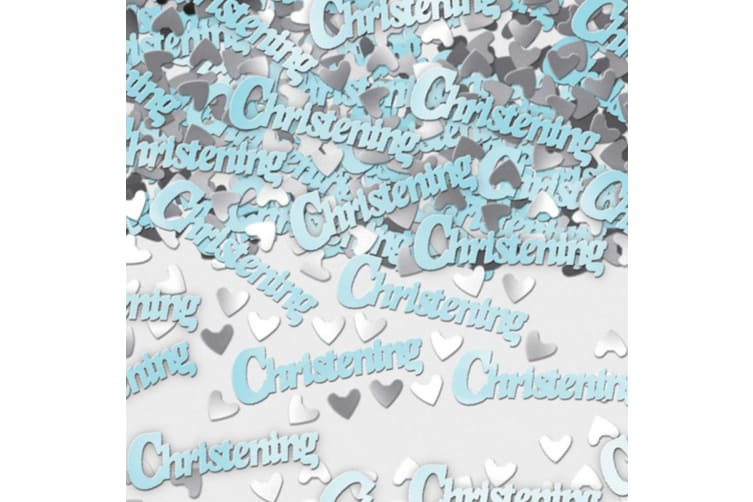 Amscan Blue Metallic Christening Confetti (Blue) (One Size)