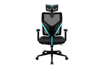 ThunderX3 YAMA1 Ergonomic Mesh Gaming Chair - Black/Cyan