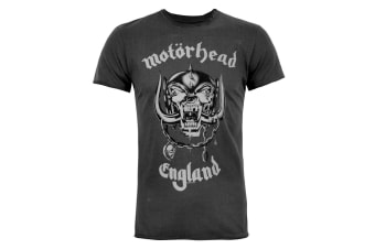 Amplified Official Mens Motorhead England T-Shirt (Charcoal)