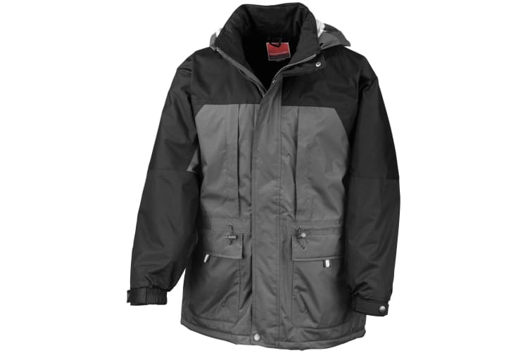 Result Mens Multi-Function Winter Jacket (Charcoal/ Black) (M)