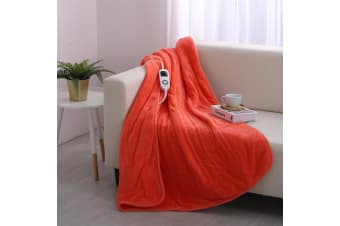 Dreamaker Electric Heated Throw Blanket - Living Coral