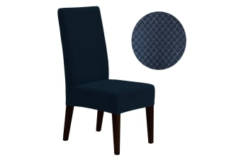 Surefit Dining Chair Cover Diamond Navy by Surefit