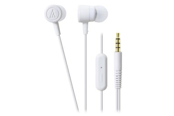 Audio-Technica ATHCKL220IS WH AT ATH-CKL220IS WHITE IN-EAR HEADPHONES WITH SMART PHONE CONTROLS AND