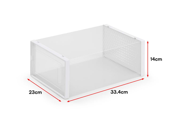 Ovela Click Shoe Box (Set of 12, Clear)