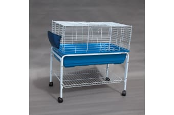 Flyline Bunny Hotel 80 Rabbit Guinea Pig Cage Hutch Habitat with Stand