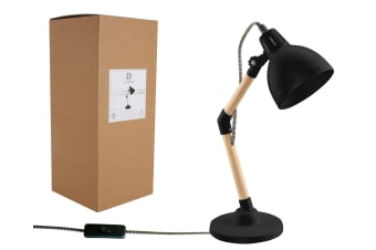 Luminite Black Desk Lamp 23x14x38.5cm